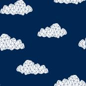 Geo Clouds - Navy (Custom) by Andrea Lauren