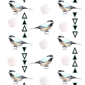 mosaic bird floral entrianglement