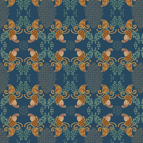 Ivy Paisley Blue
