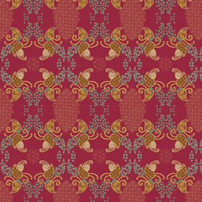 Ivy Paisley Red