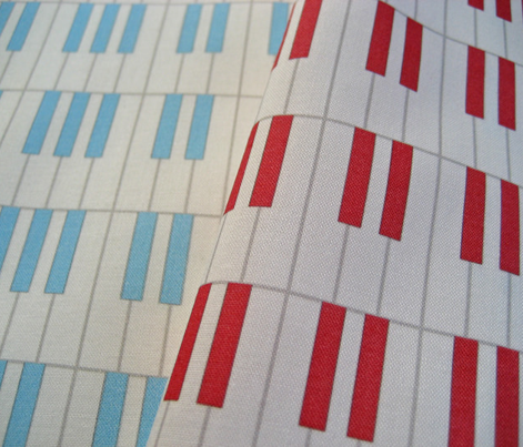 Cool blue jazz piano keys pattern by Su_G_©SuSchaefer