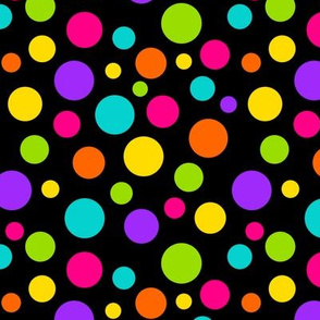 Happy Dots Black