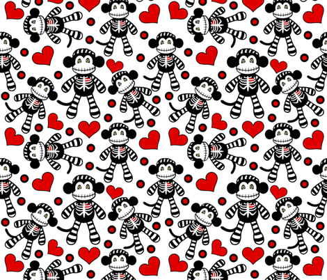 Monkey Love fabric by whimzwhirled on Spoonflower - custom fabric