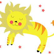 Lion with Stars