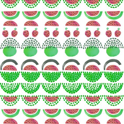 Watermelon fabric by susan_polston on Spoonflower - custom fabric