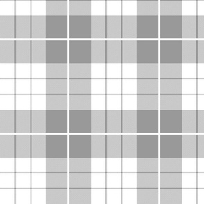 Traditional Plaid ~ Pewter and White