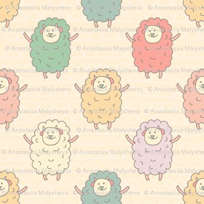 Seamless Sheep Pattern