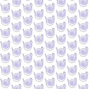 Blue Snails on White