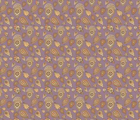 Ethnic pattern with brown elements fabric by anamalysha on Spoonflower - custom fabric