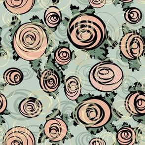 006 modern rose green