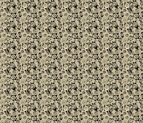 006 modern rose neutral fabric by orange_octopus on Spoonflower - custom fabric