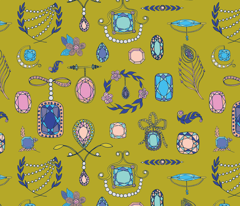 Treasured fabric by abbyhersey on Spoonflower - custom fabric