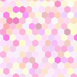 Honeycomb in Pink Pastels