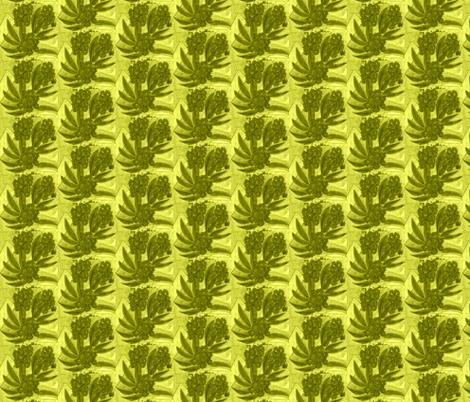 Flora in Gold fabric by inniv8z_oz on Spoonflower - custom fabric