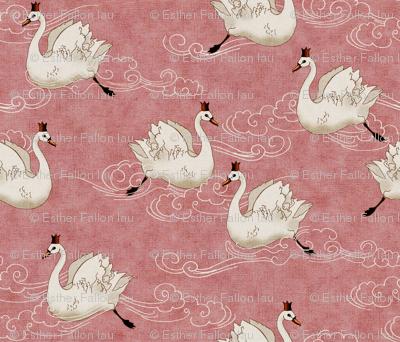 Valentine Swans  (Rose)