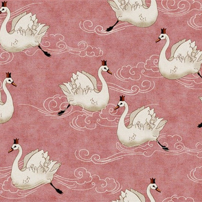 Valentine Swans (in Rose)