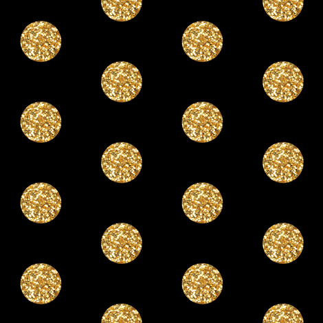 Glitter Dots Beaucoup! on Ebony fabric by willowlanetextiles on Spoonflower - custom fabric