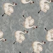 Valentine Swans (in Pewter)