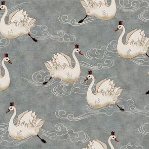 Valentine Swans (Pewter)