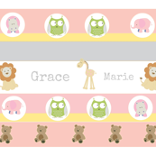 Garden Stripes Friends 2-Pink-personalized-ed