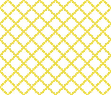 Aztec Trellis in Citron on White fabric by danika_herrick on Spoonflower - custom fabric