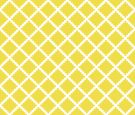 Aztec Trellis in Citron fabric by danikaherrick on Spoonflower - custom fabric