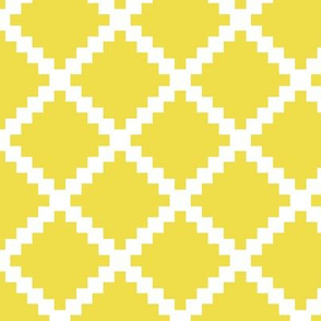 Aztec Trellis in Citron