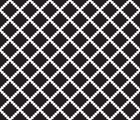 Aztec Trellis in Black fabric by danika_herrick on Spoonflower - custom fabric
