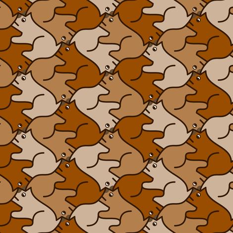 Groundhog Tessellation Fabric Sef Spoonflower