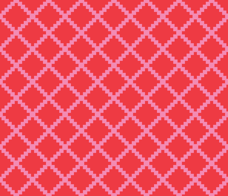 Aztec Trellis in Valentine Reversed fabric by danika_herrick on Spoonflower - custom fabric