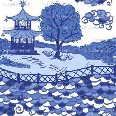 Cloud Pagoda in Blues