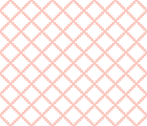 Aztec Trellis in Petal on White fabric by danika_herrick on Spoonflower - custom fabric
