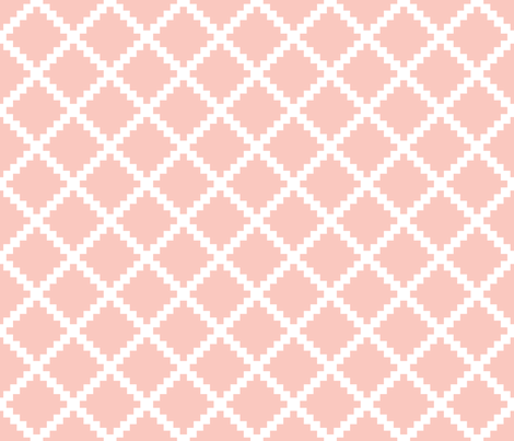 Aztec Trellis in Petal fabric by danikaherrick on Spoonflower - custom fabric