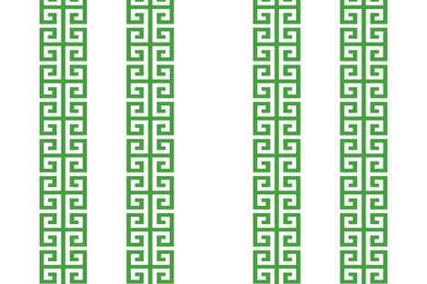 Double Greek Key in 46a040-custom fabric by danika_herrick on Spoonflower - custom fabric