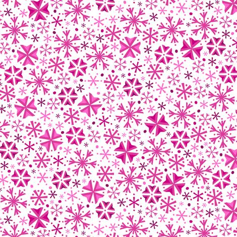 Snowflake Wonderland (Light Pink) fabric by robyriker on Spoonflower - custom fabric