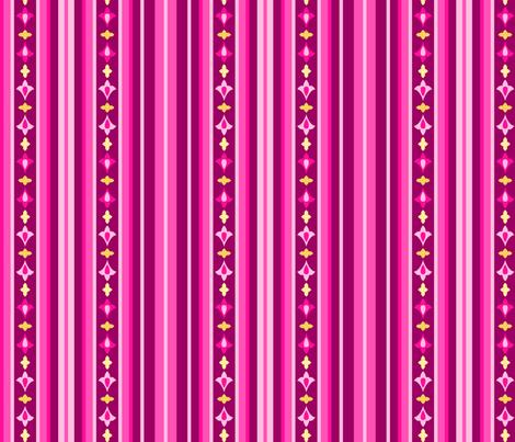 Arabian Nights - Ruby Stripe Skinny fabric by caribuziak on Spoonflower - custom fabric