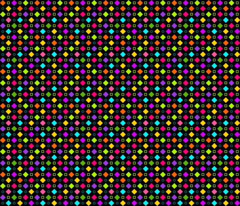 Checkerboard Fancy Happy Black fabric by bags29 on Spoonflower - custom fabric
