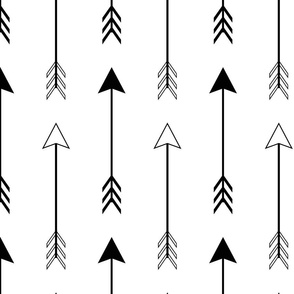 Large Black and White Arrows