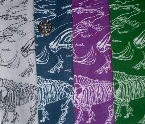 dinosaur sketches dark green