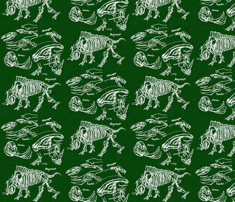 dinosaur sketches dark green fabric by craftyscientists on Spoonflower - custom fabric