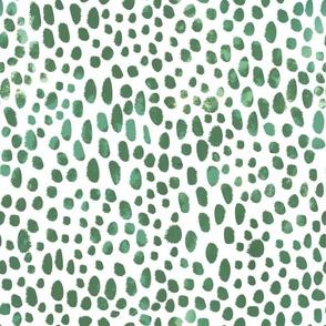 Spotty Green Paintbrush