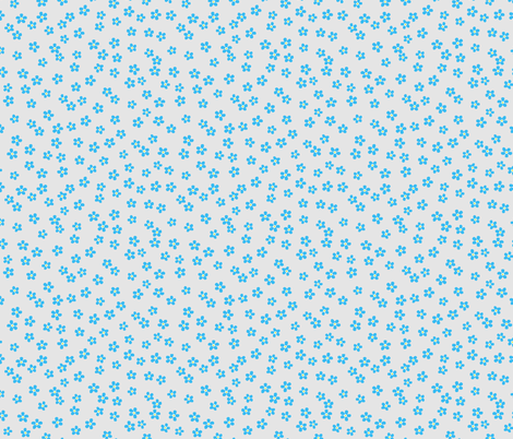 Forget-me-not (pale background) fabric by arts_and_herbs on Spoonflower - custom fabric