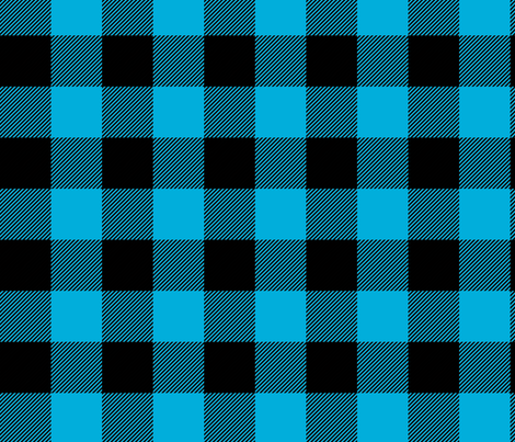 buffalo check in azure blue fabric by trizzuto on Spoonflower - custom fabric