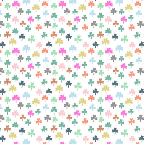 pastel clover fabric by katherinecodega on Spoonflower - custom fabric