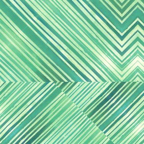Watercolor Chevrons Green