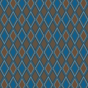 Blue and Brown Argyle