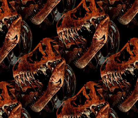 Houston Museum of Natural Science Dinosaur fabric by hisruinphotography on Spoonflower - custom fabric