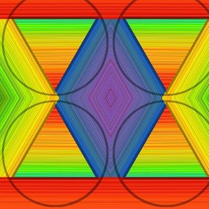Three Petal Fold Rainbow Hue