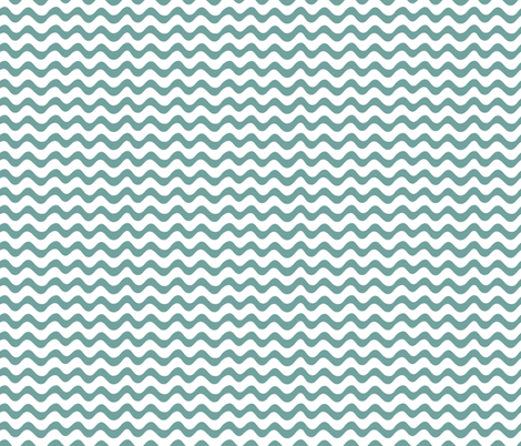 Teal Waves fabric by studio_amelie on Spoonflower - custom fabric