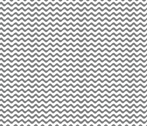 Charcoal Waves fabric by studio_amelie on Spoonflower - custom fabric